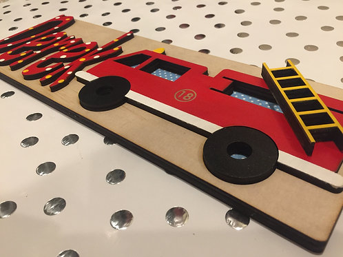 Firetruck Name Puzzle