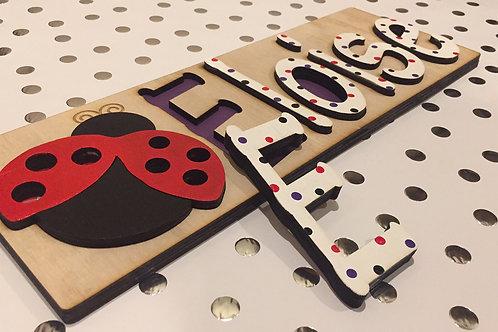 Ladybug Name Puzzle