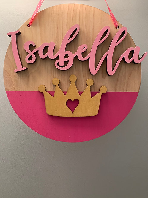 Princess Name Sign