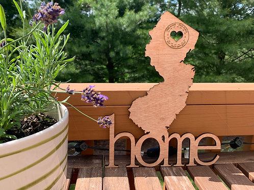 Custom Engraved Stamped NJ Home Sign