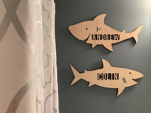 Shark name sign