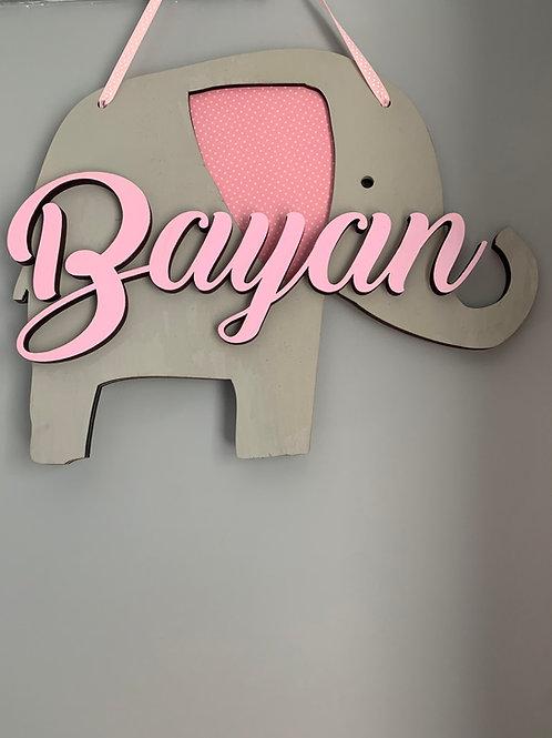 Elephant Name Sign