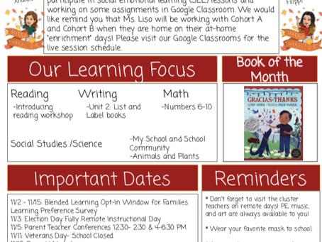 Kindergarten November Newsletter