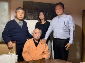 姜徳相先生宅を訪問してインタビュー