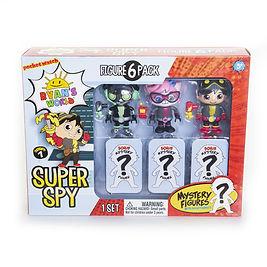 717-6 Super Spy Figure 6 Pack front low