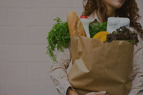Woman with grocery shopping