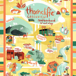 Thorncliffe Greenview Map Poster
