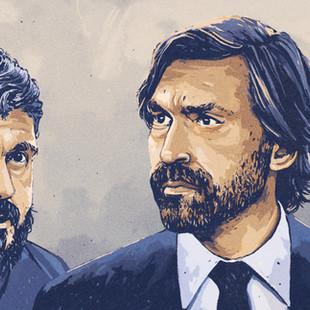 Andrea Pirlo and Gennaro Gattuso