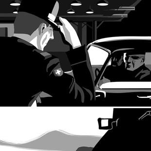 Interior illustration for graphic novel