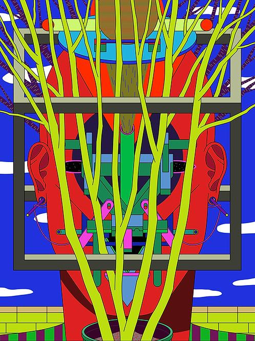 """Triptych """"Techno Mask"""" n. 3"""