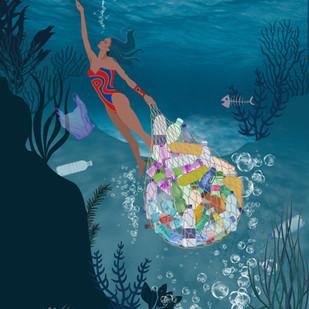 Plastic Ocean - Planet Woman