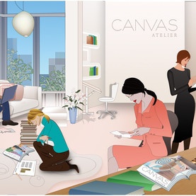 Illustration for Canvas website homepage