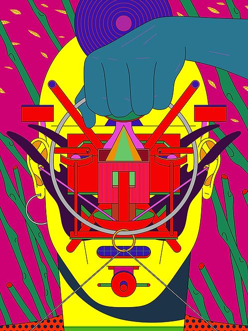 """Triptych """"Techno Mask"""" n. 1"""