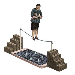 Smartphones vs Books -Balance