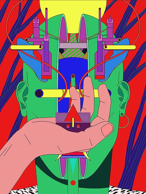 """Triptych """"Techno mask"""" n. 2"""