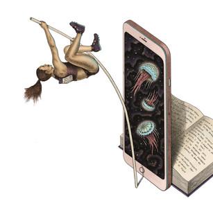 Smartphones vs Books - High Jump