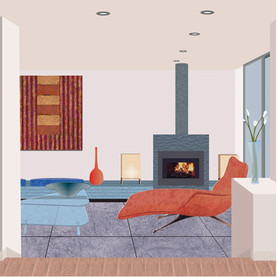 Interior for a poster for Architectural Digest