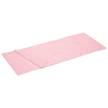 Logos 絲綢睡袋內套粉紅