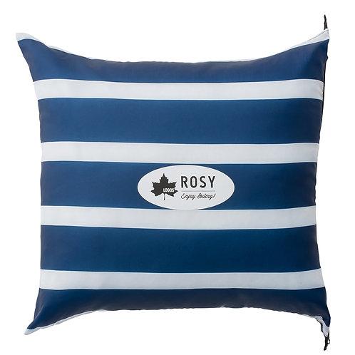 Logos Rosy丸洗藍白靠墊寢袋6度