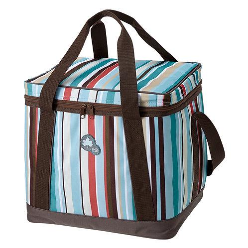 LOGOS條紋軟式保冷提袋M
