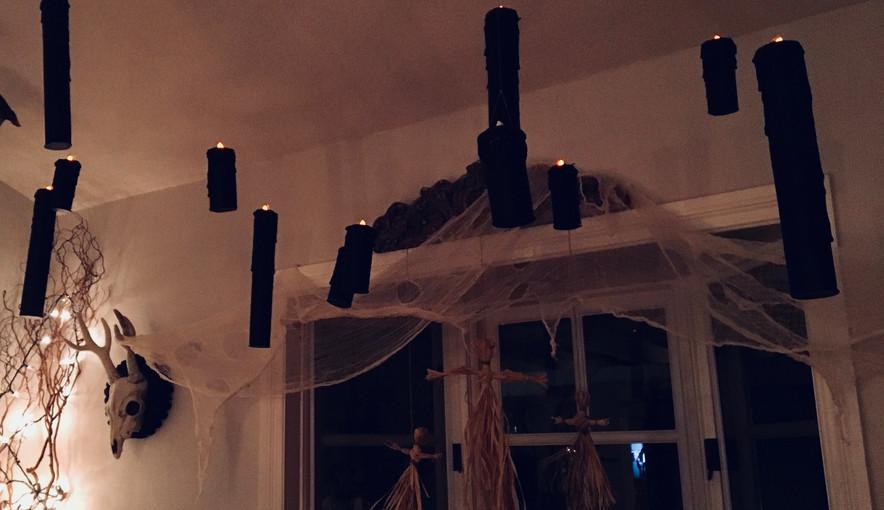 Hangin Black Candles