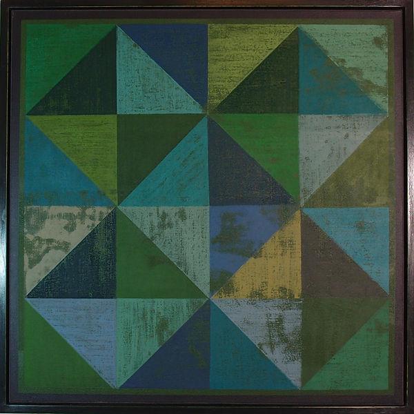 Textured Greens 64x64cm