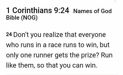 Stay In The Race!