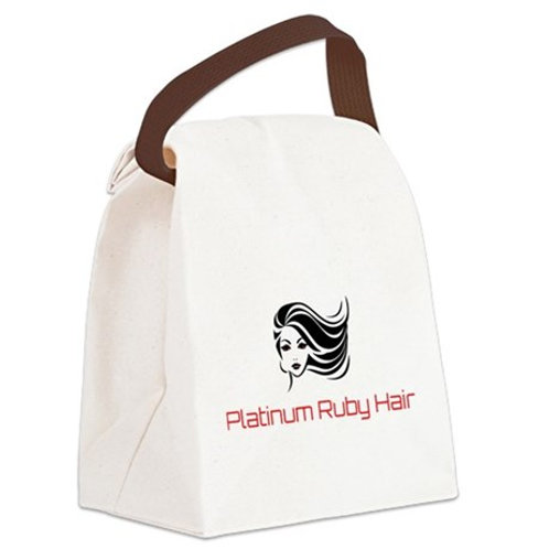 Platinum Ruby Hair Canvas Lunch Bag
