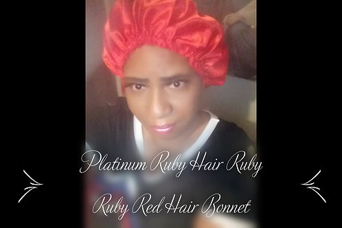Platinum Ruby Red Silk Bonnets