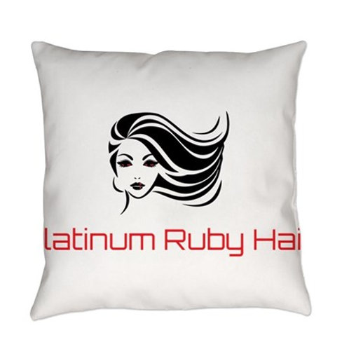 Platinum Ruby Hair Everyday Pillow