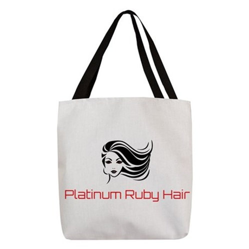 Platinum Ruby Hair Polyester Tote Bag