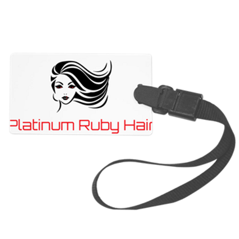 Platinum Ruby Hair Luggage Tag