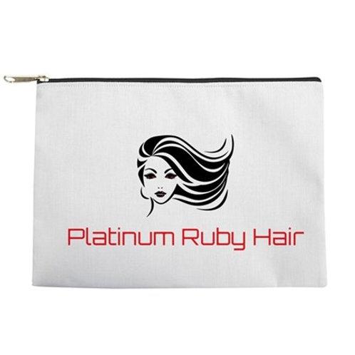 Platinum Ruby Hair Pouch Makeup Bag