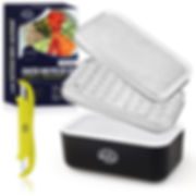 Grater and Peeler Set with Container and Lid