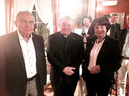 S manželem a kardinálem Dukou