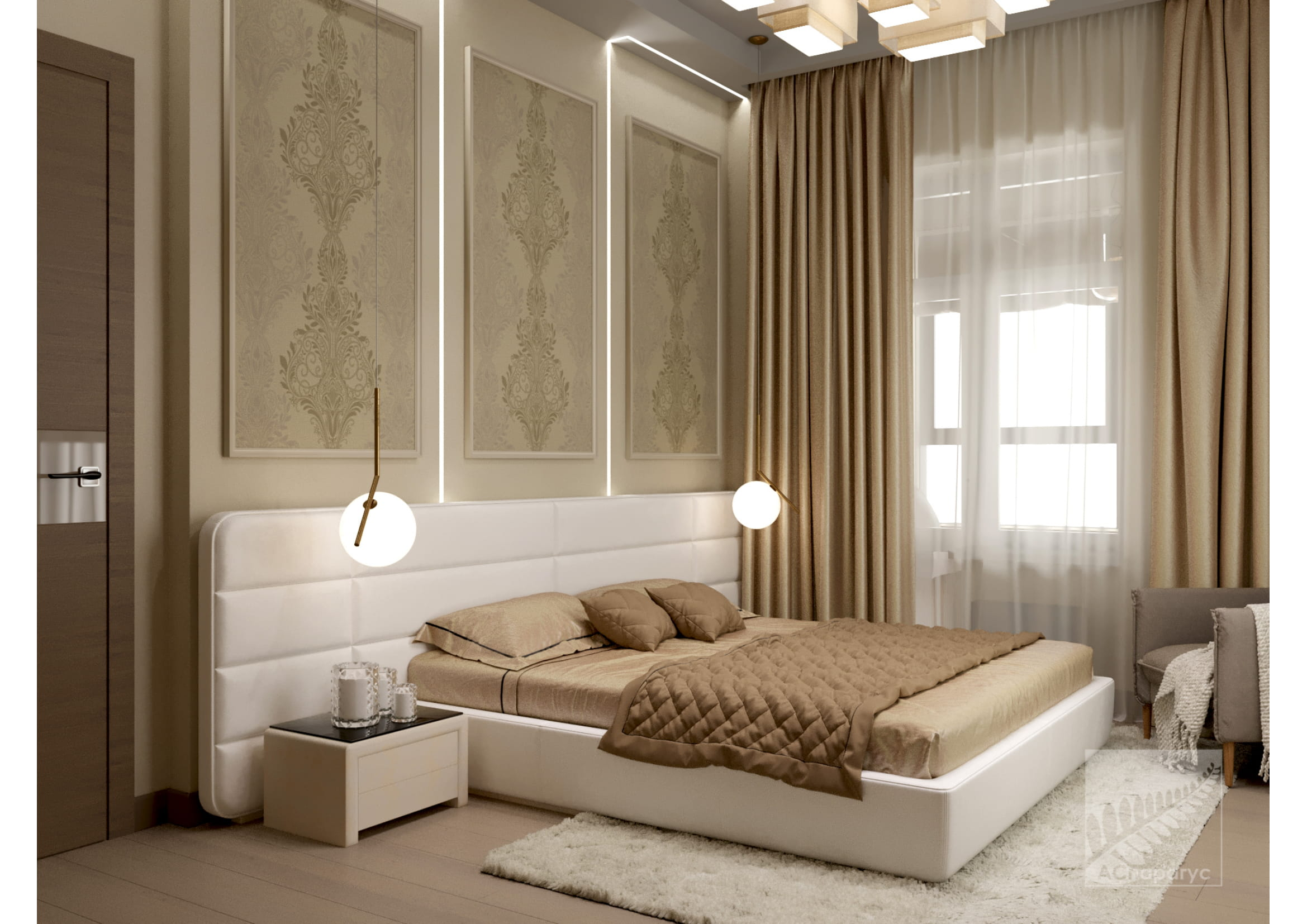 0 9 спальня 1 кровать-1