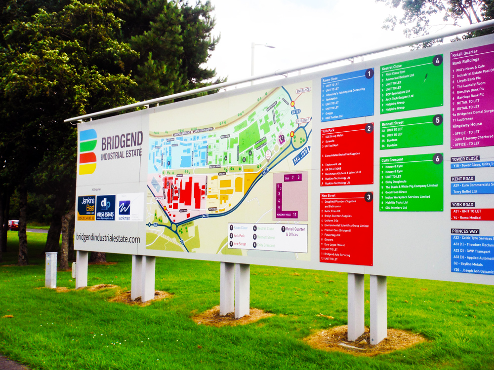 Bridgend Main sign