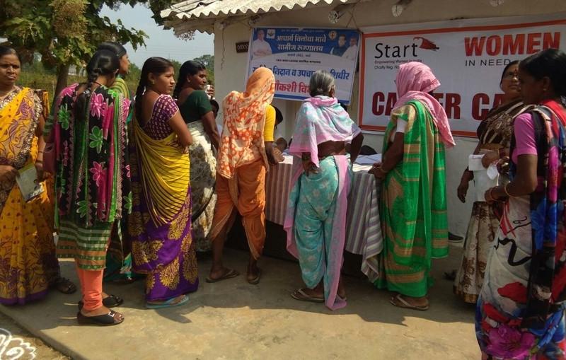 Women registering for Cancer Screening