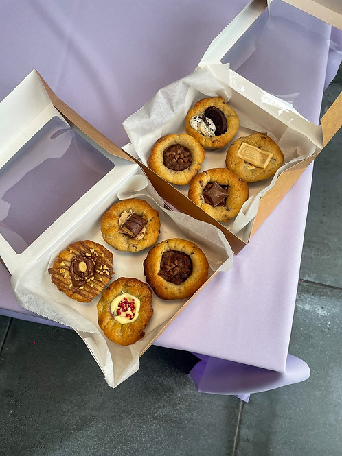 Cookie Cup box - Cookies & Cream, Caramac , Caramel & Brookie