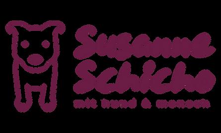 Logo mit dem Namen Susanne Schicho - mit Hund und Mensch