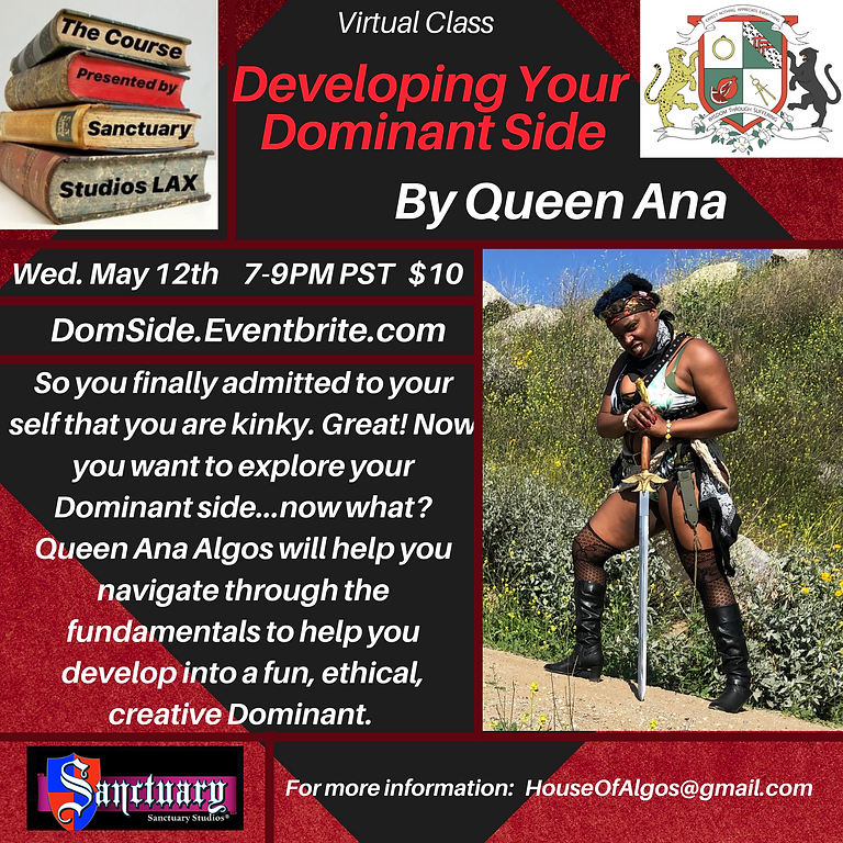 """Developing Your Dominant Side"""" By Queen Ana Algos"""