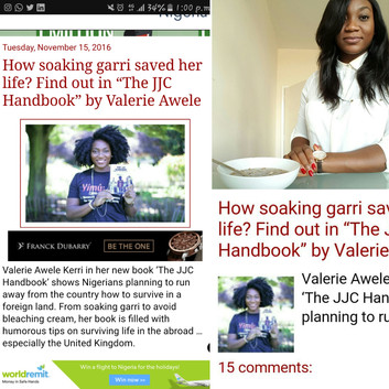 Find out how drinking garri put me on Linda Ikeji's blog!