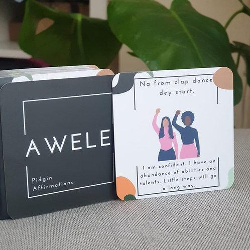 Awele Pidgin Affirmation Cards