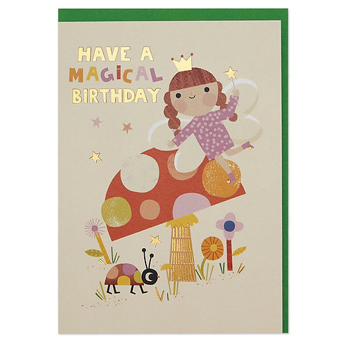 Magical fairy children's Birthday Card