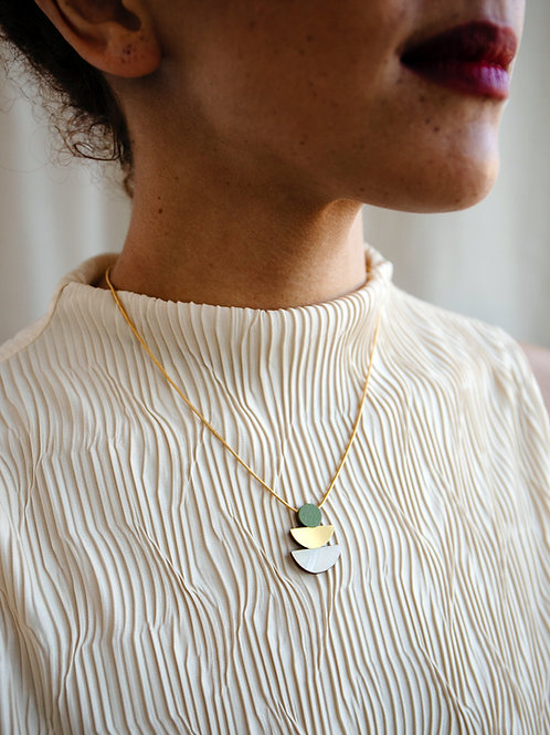 Selene Necklace in Pistachio by Wolf and Moon
