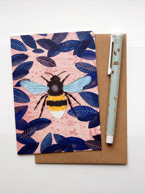 Bumble Bee Card by Little Posy Print Co