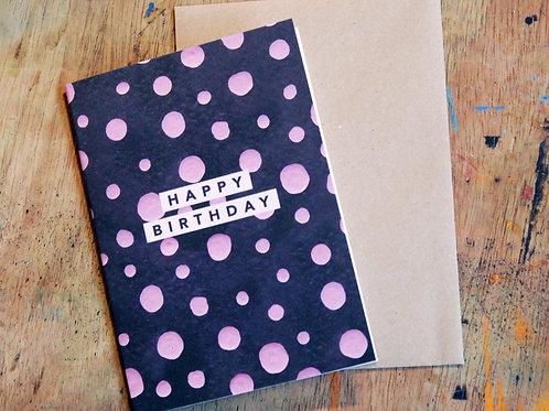 Brightly Patterned Happy Birthday Card