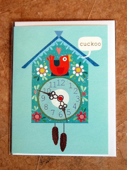 Mini Cuckoo Clock Card