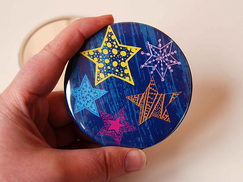 Starry Night Pocket Mirror.