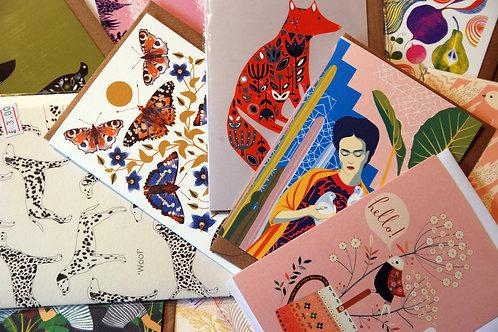 Beautiful Illustration Card Surprise Bundle X 5 Cards